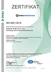Recertification according to ISO 9001:2015