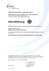 DAkkS-Accreditation of our test laboratory