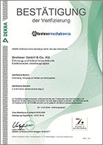 Certificate of the Kraftfahrt-Bundesamt (KBA)
