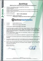 Zertifikat der DEKRA EXAM