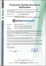 DEKRA EXAM certification