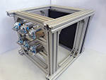 In-house developed electro-pneumatic test bench